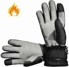Aroma Season® | Beheizbare Handschuhe mit Akku | Warme beheizte Hände den ganzen Tag beim Skifahren, Snowboarden, Wandern, Angeln | hohe Heiz- und Akkuleistung | hochwertige Verarbeitung - 1