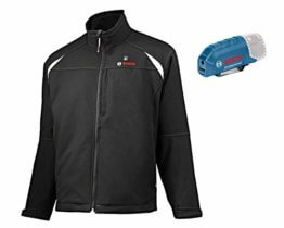 Bosch Professional Beheizbare Jacke GHJ 12+18V Unisex (ohne Akku, 12/18 Volt, Schwarz, Größe L, im Karton) - 1